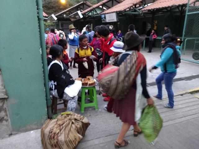 Train station in Agua Caliente, Peru, Blue Sky and Wine