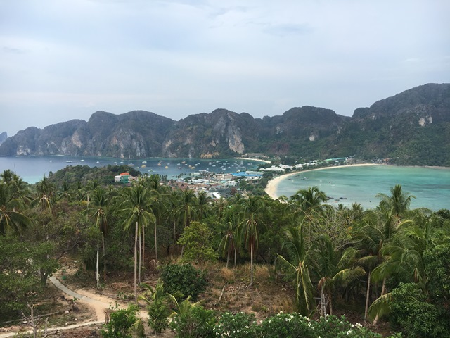 Viewpoint from Phi Phi Island, Thailand, Blue Sky and Wine
