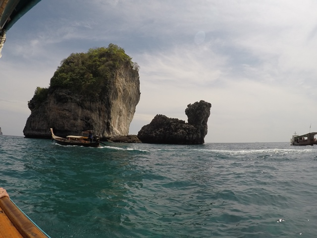 Boat trip to Maya Bay from Phi Phi, Thailand, Blue Sky and Wine