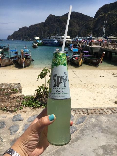 Spy cocktail mojito, Phi Phi island, Thailand, Blue Sky and Wine