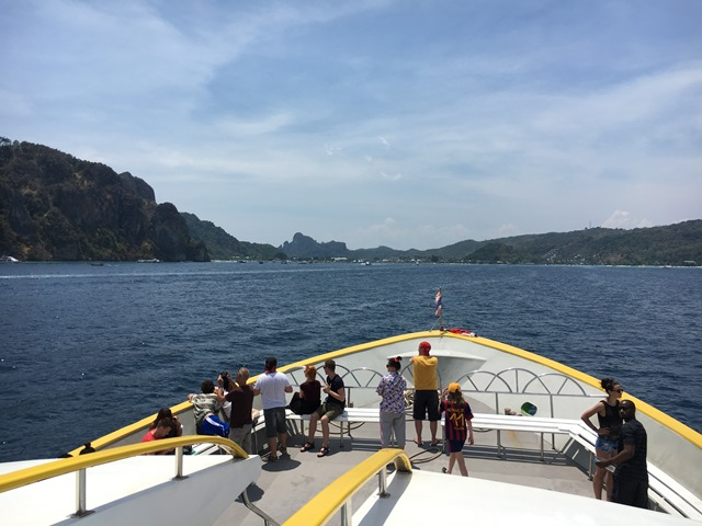 Phuket to Phi Phi by ferry, Thailand, Blue Sky and Wine
