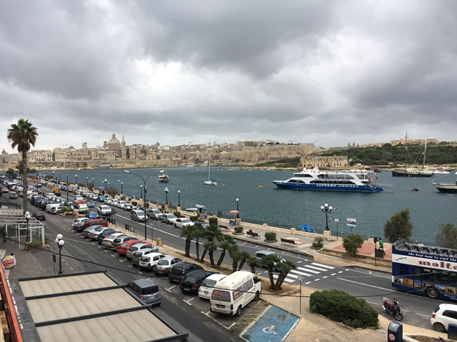 Sliema harbour, Malta, Blue Sky and Wine