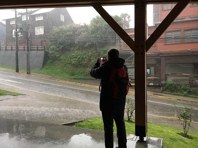 A rainy day in Puerto Varas, Chile