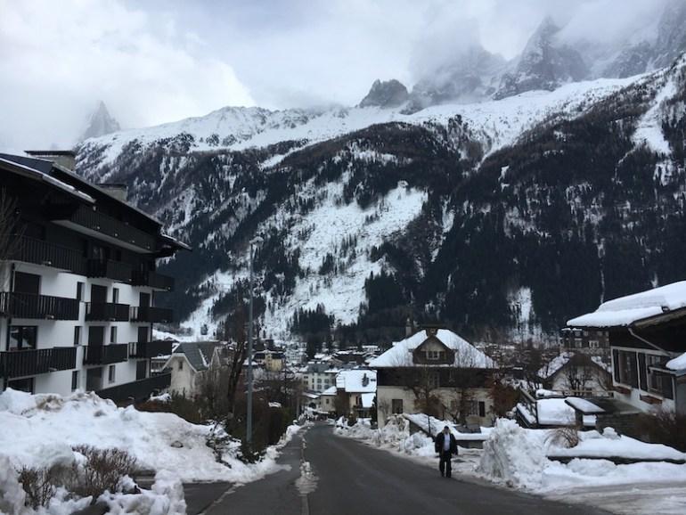 Chamonix town, Blue Sky and Wine Travel Blog