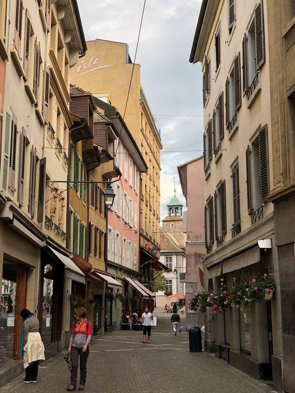 Vevey from Geneva, Blue Sky and Wine