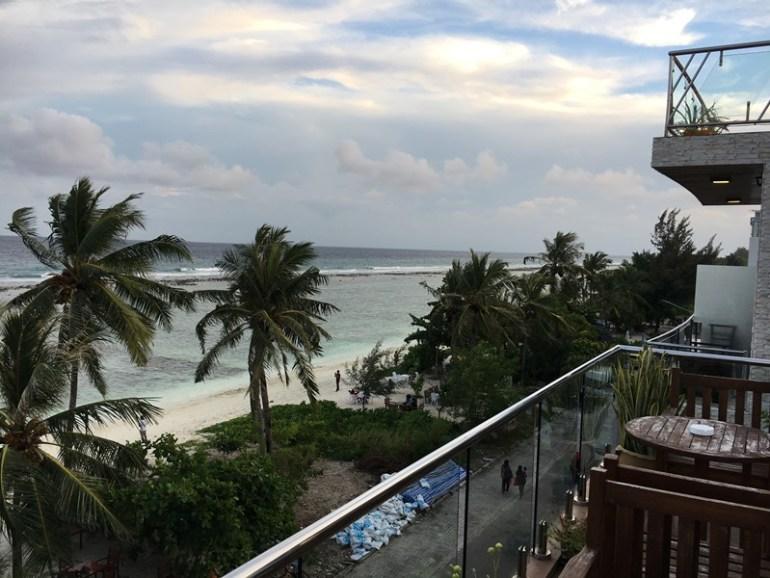 Hulhumalé island, Maldives, Blue Sky and Wine