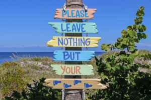 Leave nothing but your footprint, Blue Sky and Wine