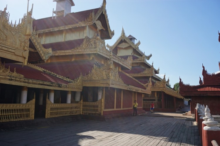 Blue Sky and Wine, Mandalay Palace, Myanmar