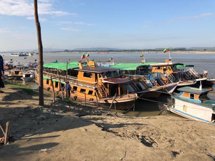 Blue Sky and Wine Mingun Jetty, Mandalay, Myanmar