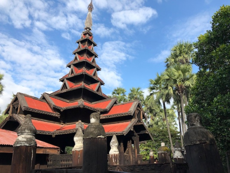 The Bagaya Kyaung Monastery, Inn Wa City, Myanmar