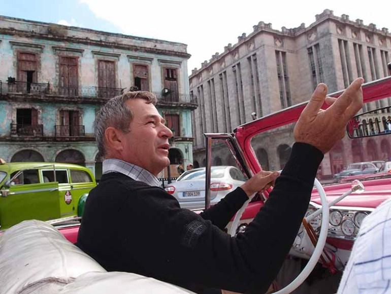 Pink Ford Fairlane car, Havana, Cuba, Blue Sky and Wine