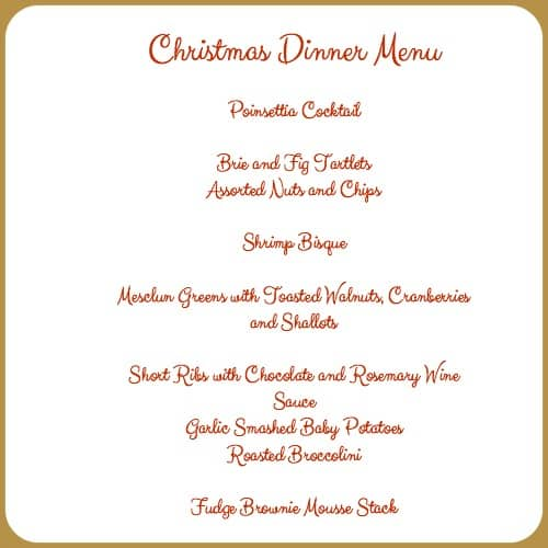 5 Christmas Dinner Menu Guidelines and an appetizer recipe ...