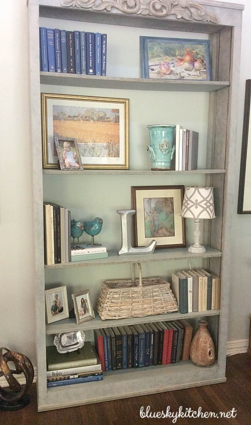 How I Decorated My Transformed Bookcase