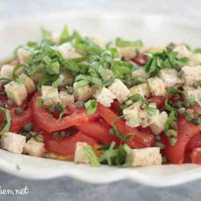 A Beautiful, Simple Salad ~ Tomatoes & Lemons Shine
