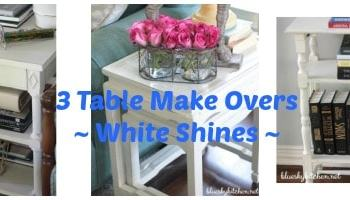 3 Table Makeovers with Chalk Paint