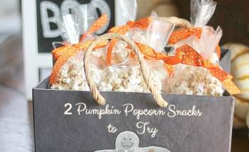 2 Pumpkin Popcorn Snacks ~ 1 Spicy and 1 Sweet