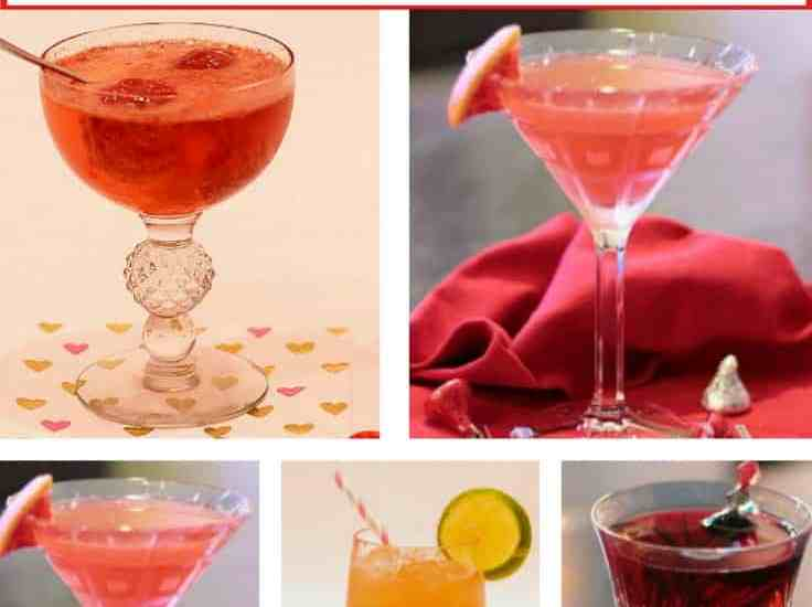 5 Delicious Valentine Cocktails to celebrate with Your Valentine; pick one of these pretty special~ occasion drinks for toasting the evening with your sweetheart or best girlfriends. They are all a great way to celebrate our most romantic holiday. Recipes and tips included. BlueskyatHome.com