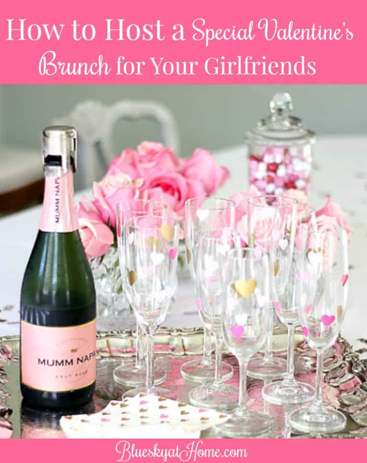 how to host a valentine brunch for your girlfriends from a welcoming drink and an