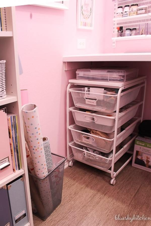 Home Office Reveal craft storage