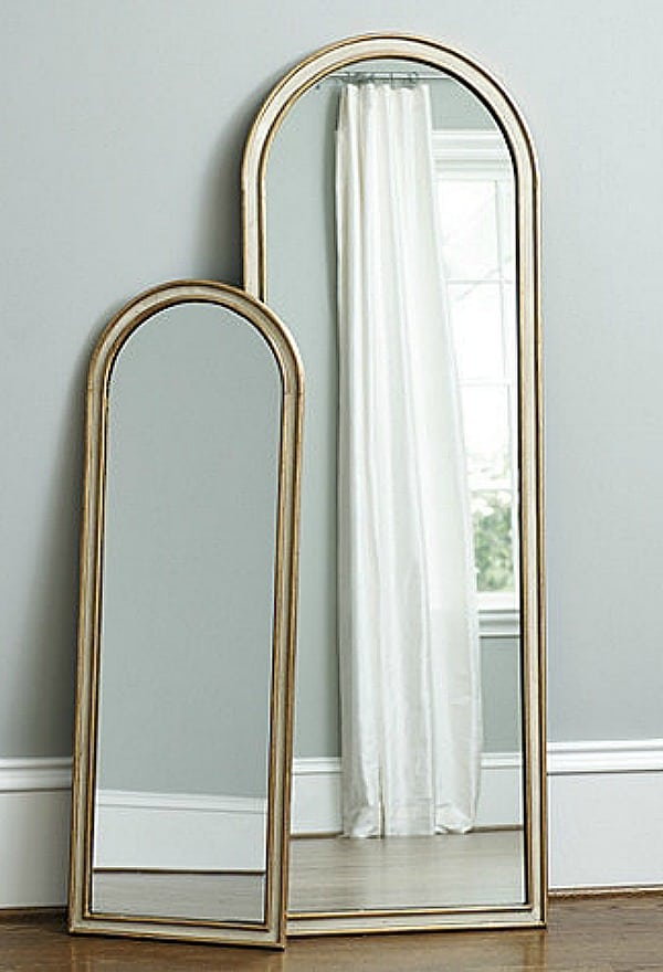 gold frames floor mirrors