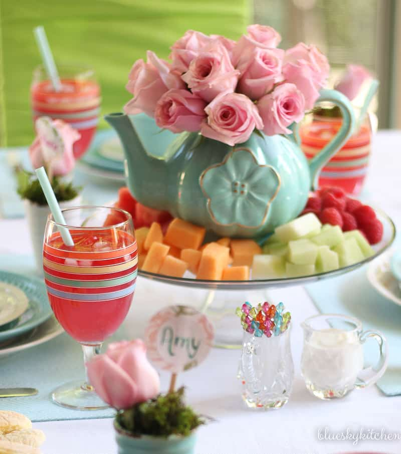 How to Create a Spring Tablescape with Bright Pastels. Using some of the happiest colors as the inspiration for a springtime table.