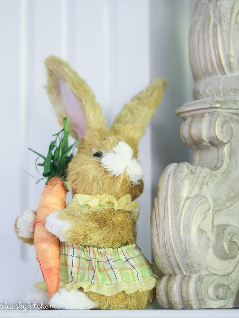 Cute Ideas for Decorating Your Home for Easter. Bunnies and flowers take center stage in our home Easter decor. Here are some ideas to try for your home.