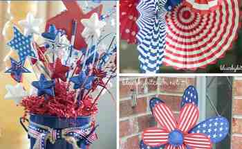 6 Easy 4th of July Decorations with Red, White, and Blue