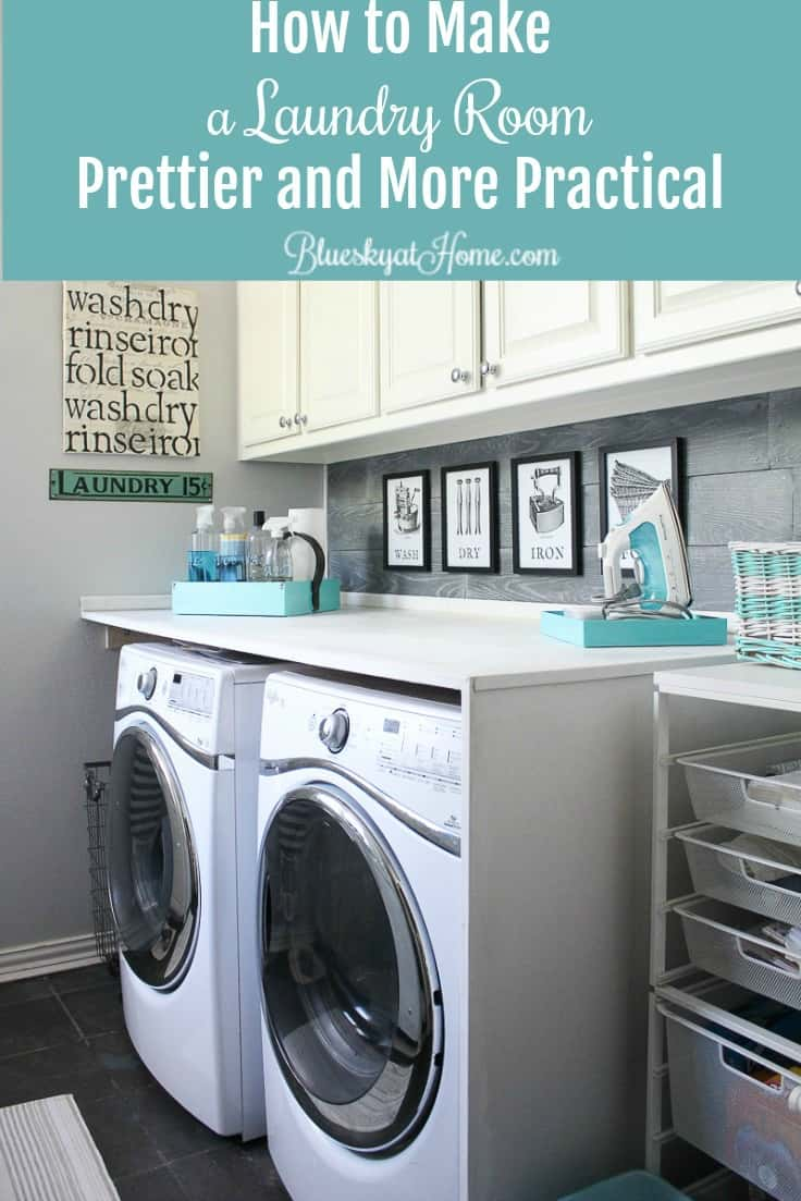 How to Make a Laundry Room Prettier and More Practical ~ Bluesky at Home