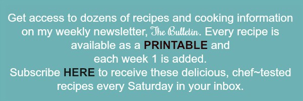 Printable Recipe Sign Up