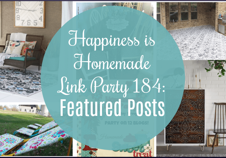 Happiness is Homemade Link Party 184 is a great place to share your latest and greatest content about home decor, DIY, crafts, tablescapes, recipes.