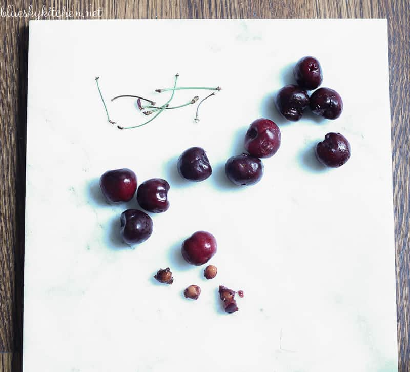 Orange~Basil Cherries with Ricotta. With cherries in season for a few weeks, now is the time to make this delicious and not too sweet cherry dessert.