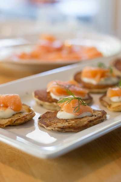 Blini with Salmon and Dill for Holiday Entertaining