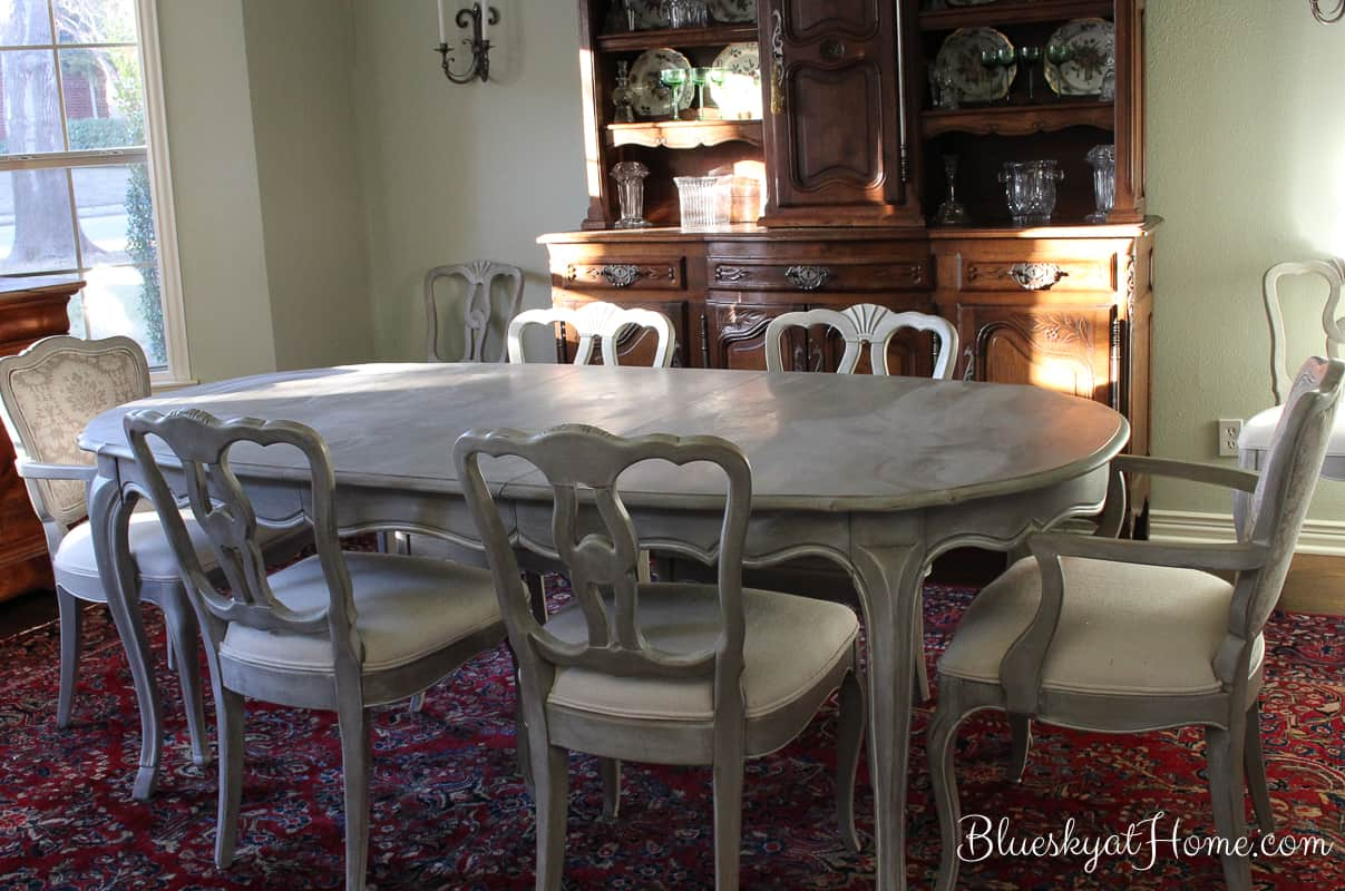 How To Transform A Vintage Dining Room Table With Paint. Repurposing Vintage  Or Thrift Store