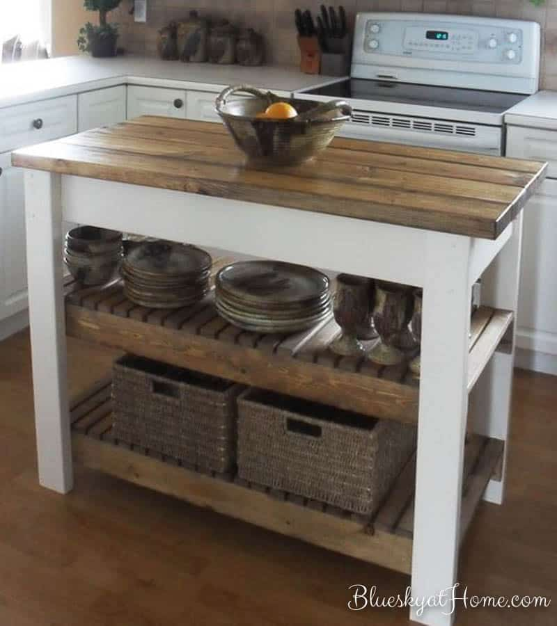 Kitchen Update With Brookhaven Island Desk: How To Turn A Console Table Into A Kitchen Island