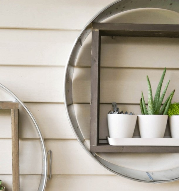 wood and galvanized DIY planter project
