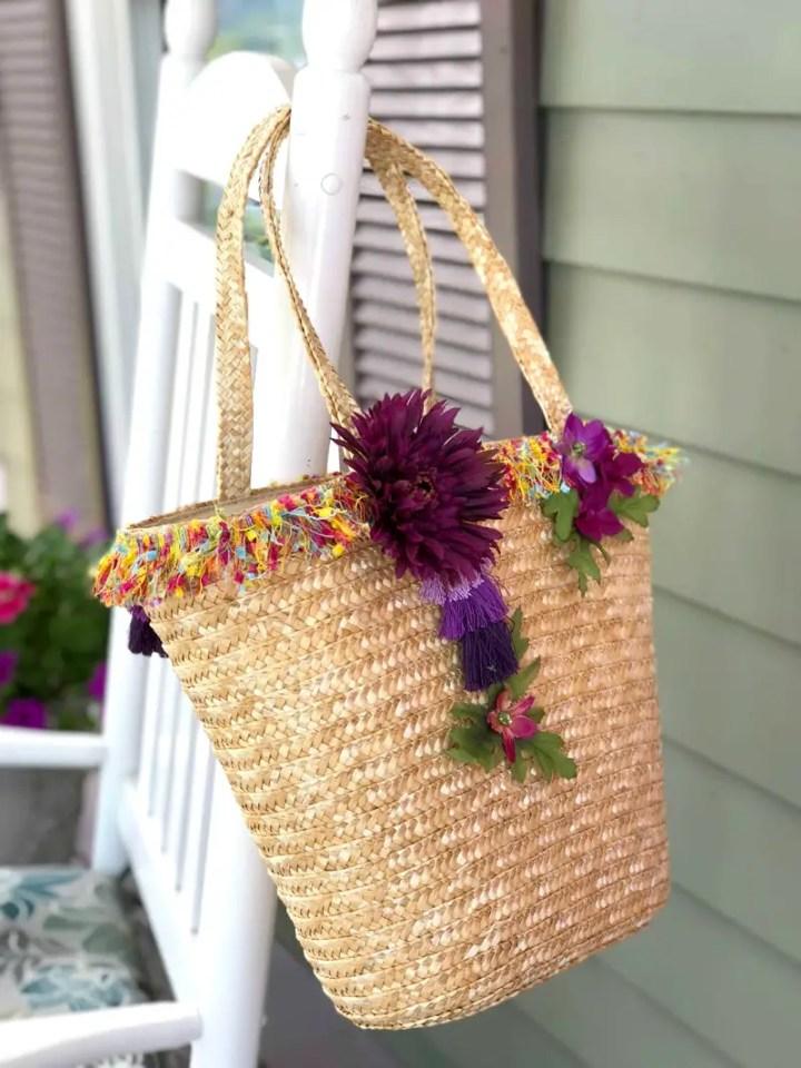 summer DIY tote bag