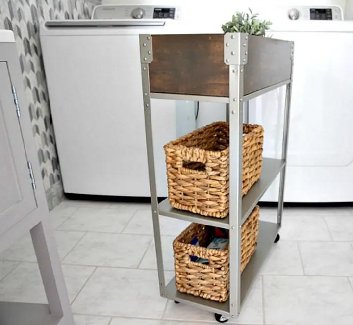 IKEA hack laundry storage