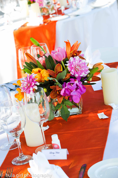 Maui wedding with tropical theme