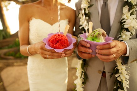 Maui wedding with Shave Ice