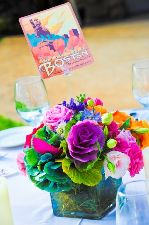 Bright flowers for tables