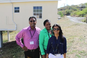 Figure 7: (L-R) Dr. Perry Polar, Mrs. Lisa Blenman- David and Ms. Sarika Mahabir of the CNULM