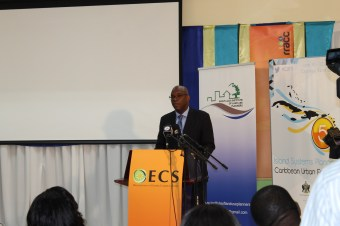 Figure 2: Keynote address by Senator Stanley Felix, Minister for Physical Development, Housing and Urban Renewal