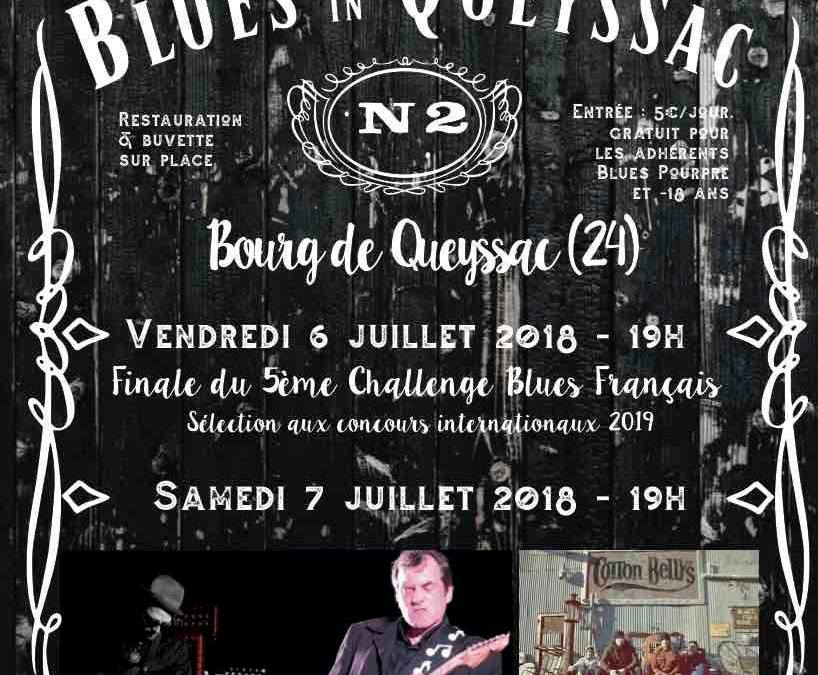 L'affiche « Blues in Queyssac » 2018