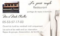 """Restaurant """"Le passé simple"""""""