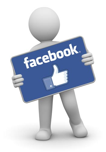 Figure holding sign to Increase Your Facebook Fan Activity