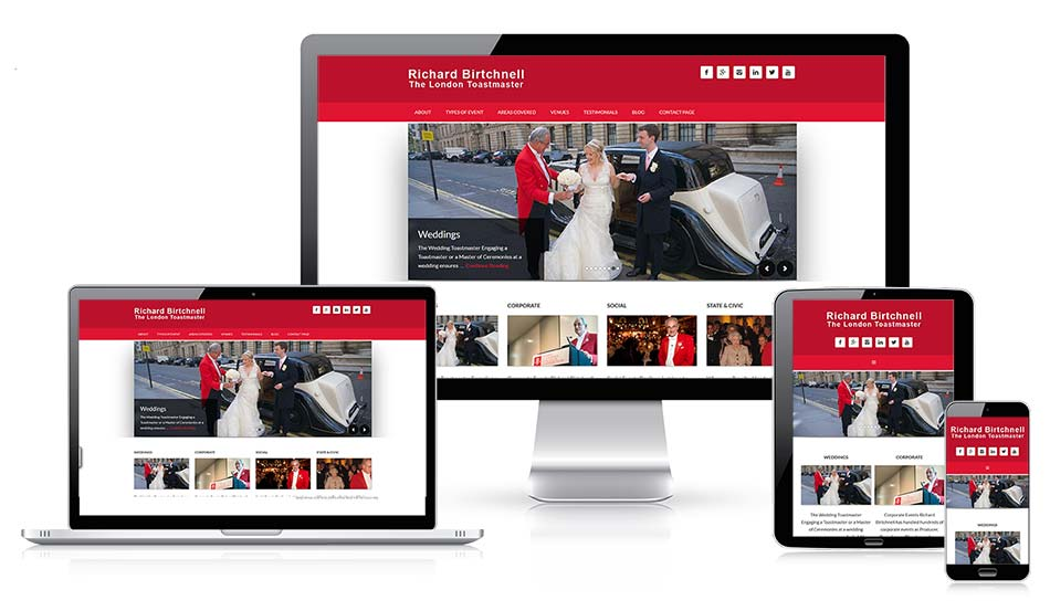 London Toastmaster New Website Design by Web Design company in Bromley Kent