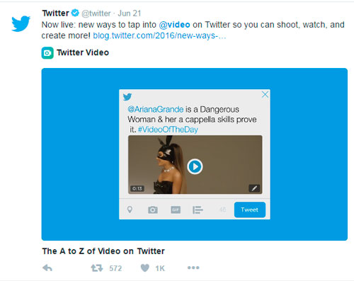 Video marketing for business using Twitter Video