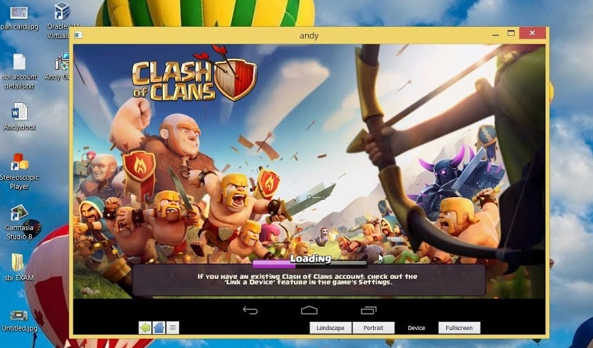 Clash of Clans on PC Andy Android Emulator