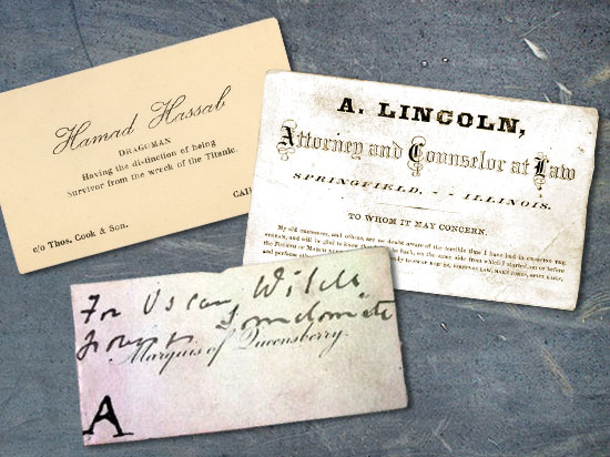 the history of business cards