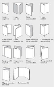 Folding Guide - Standard Print folds